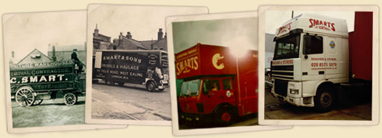 Image of our removals vans over the years